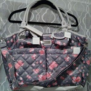 Laura Scott Diaper Bag 6 Piece New
